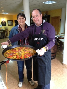 Arvina's First Paella with Luis