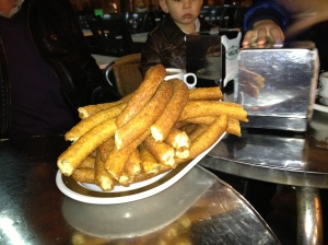 Churros fresh from the kettle