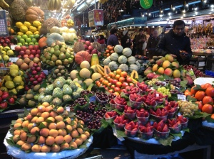 The market in Barcelona